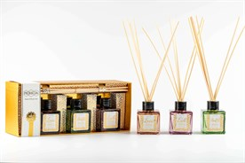 Pereja 3lü Mini Diffüzör Seti : Wish List 50 ml x3 ( Sandalwood, Warm Amber, Ginger Lily )
